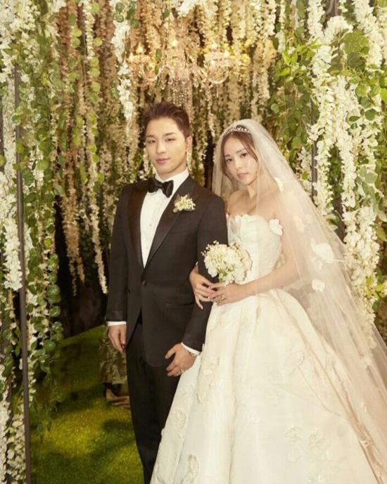 Taeyang và Min Hyo Rin.