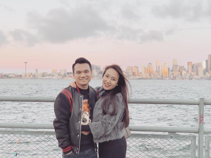 Vợ chồng Khắc Việt đang có chuyến du lịch ở Mỹ.