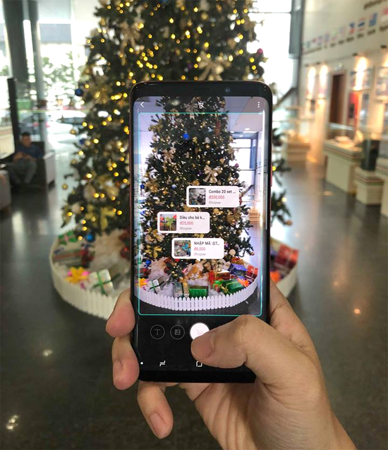 Tính năng gợi ý mua sắm thông minh Bixby Vision trên Galaxy S9+