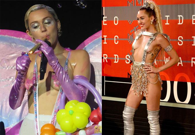 Suốt hai năm sau đó, Miley liên tục trở thành tâm điểm bàn tán khi ngày càng mặc hở bạo hơn, hút cần sa trên sân khấu, sử dụng đạo cụ mô phỏng đồ chơi tình dục và trình diễn khêu gợi trong tour diễn Bangerz.