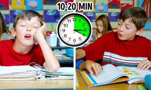 Tác dụng của việc ngủ trưa từ 10 phút đến 1 tiếng