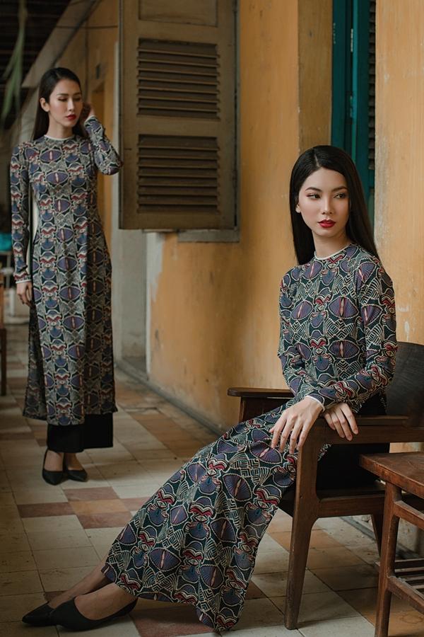 Áo dài in hoạ tiết hoa của nhà thiết kế An Nhiên - 6