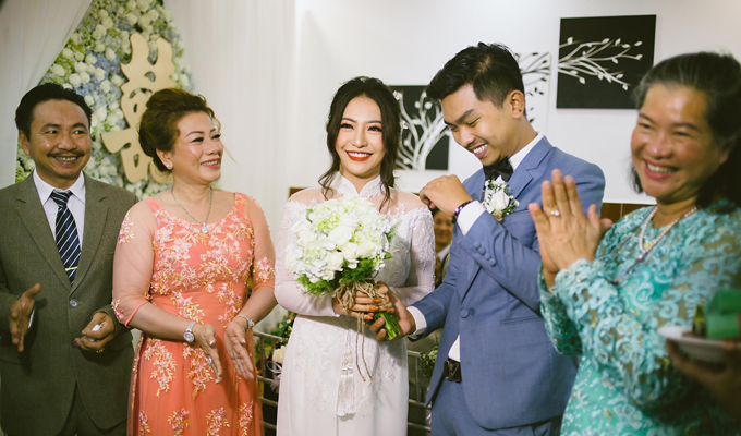 MiA và Triệu Vương quen nhau nhờ hội bạn chung của cả hai.