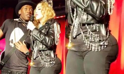 Madonna xuất hiện với vòng ba to bất thường