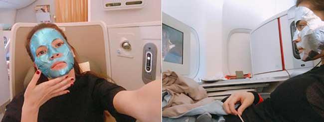 Hồ Ngọc Hà từng khoe: Ăn hai cái mặt nạ lên mặt nhưng lại chưa ăn một bữa nào vào bụng trên máy bay.