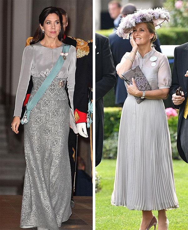Công nương Mary của Đan Mạch (trái) và Nữ bá tước xứ Wessex, Sophie (phải). Ảnh: UK Press.