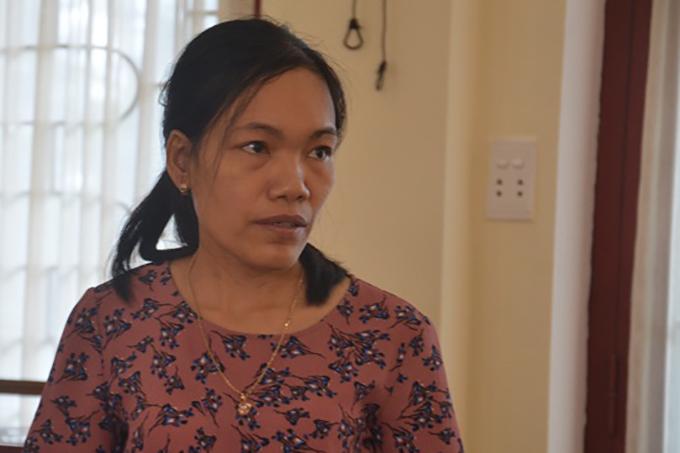 Cô Hải tại buổi dạy sáng 8/1 trước khi bị đình chỉ. Ảnh: Hà Thương