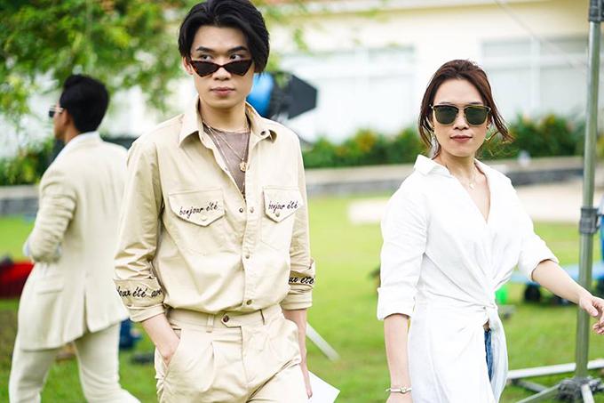 Quang Trung và Mỹ Tâm trong một cảnh phim Chị trợ lý của anh.