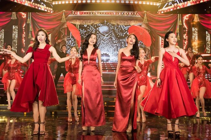 Bốn người đẹp Như Thủy - Kiều Vỹ - Thùy Tiên - Cẩm Nhi kết hợp trong một tiết mục âm nhạc.