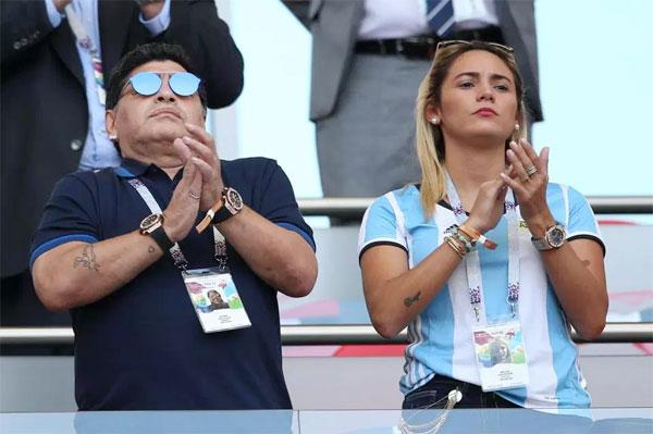 Cậu bé vàng và bạn gái cũ Rocio Oliva tại World Cup 2018 ở Nga