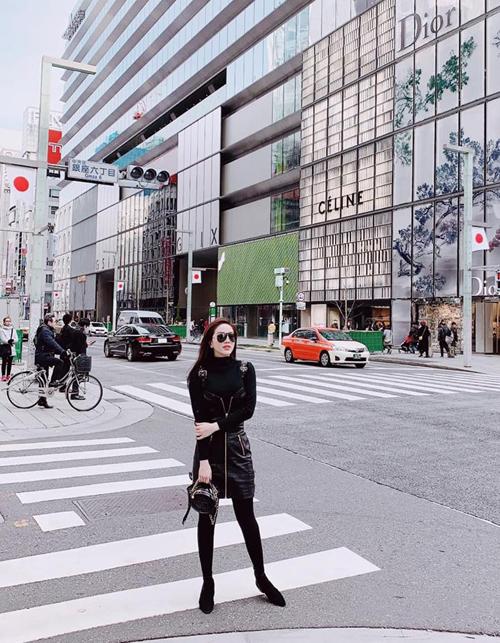 Khi ở Tokyo, Bảo Thy thuê khách sạn ngay ở khu Ginza - trung tâm mua sắm sầm uất bậc nhất thủ đô.