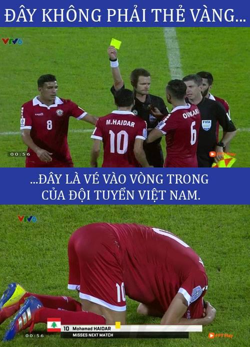 Việt Nam vào vòng 2 nhờ... chiếc thẻ vàng này.