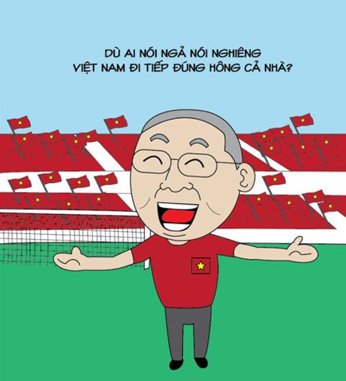 HLV Park Hang-seo cười tít mắt khi đội tuyển Việt Nam chính thức lọt vào vòng sau.