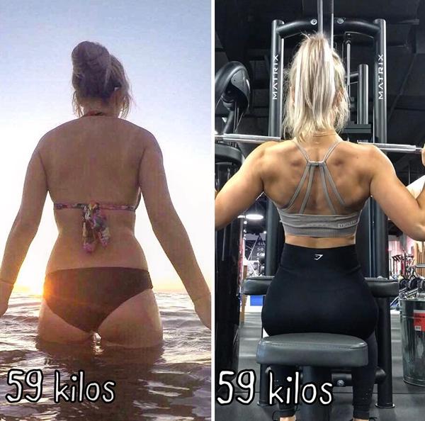 Cân nặng không phải là thước đo duy nhất. Tôi đã tăng 1,8 kg cơ bắp và giảm tổng cộng 7% mỡ thừa.