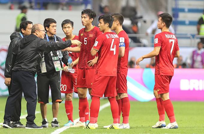 Trong tay HLV Park Hang-seo đang là lứa cầu thủ tài năng và rất hứa hẹn của bóng đá Việt Nam. Ảnh: Đức Đồng.