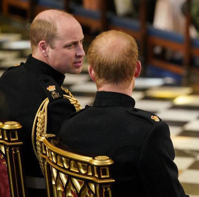 Tóc của Harry trong đám cưới hồi tháng 5 năm ngoái rậm hơn thời điểm hiện tại. Ảnh: PA.