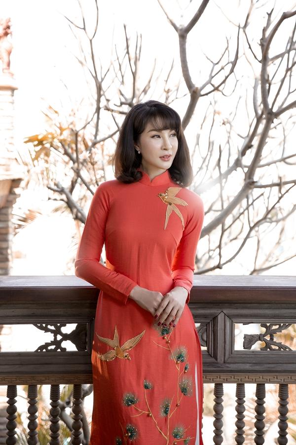 Ở tuổi 46, Thanh Mai vẫn sở hữu nhan sắc rạng rỡ nhờ ý thức chăm sóc kỹ lưỡng.