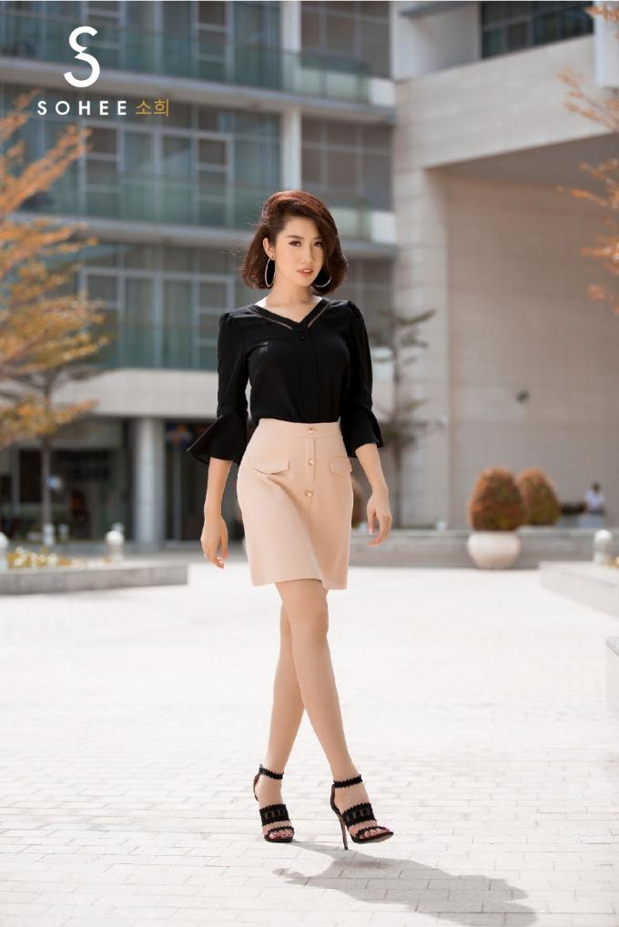 Thúy Ngân Gạo nếp gạo tẻ đẹp yêu kiều với trang phục Sohee - 5