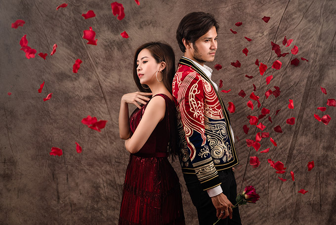 Anh Tài - Vũ Ngọc Ánh chụp ảnh Valentine trước hôn lễ