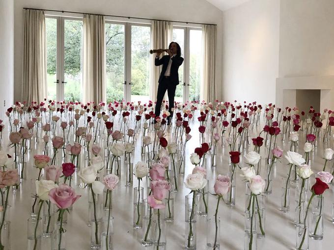 Không gian lãng mạn ở nhà Kim trong ngày Valentine.