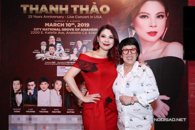Nhà tạo mẫu tóc Khánh Vĩnh Hoàng ủng hộ Thanh Thảo làm liveshow ở Mỹ.