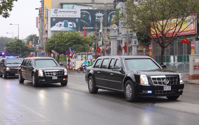 Xe Quái thú của Tổng thống Mỹ lăn bánh trên đường phố Hà Nội - 2