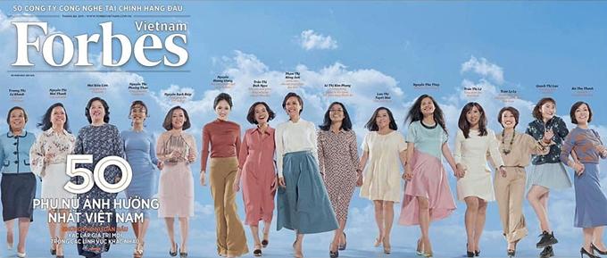 Forbes Việt Nam công bố danh sách top 50 Phụ nữ Việt Nam có sức ảnh hưởng.