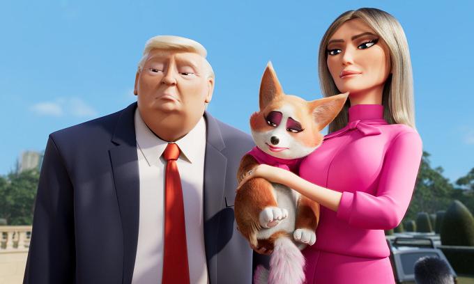 Vợ chồng Tổng thống Trump được tái hiện trong phim Những chú chó hoàng gia.