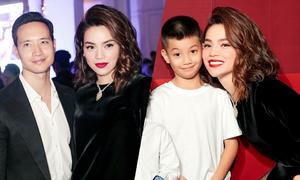 Kim Lý và con trai Subeo ủng hộ sự kiện của Hồ Ngọc Hà