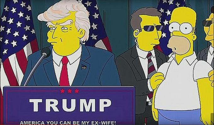 Donald Trump trong phim hoạt hình Gia đình Simpson 19 năm trước.