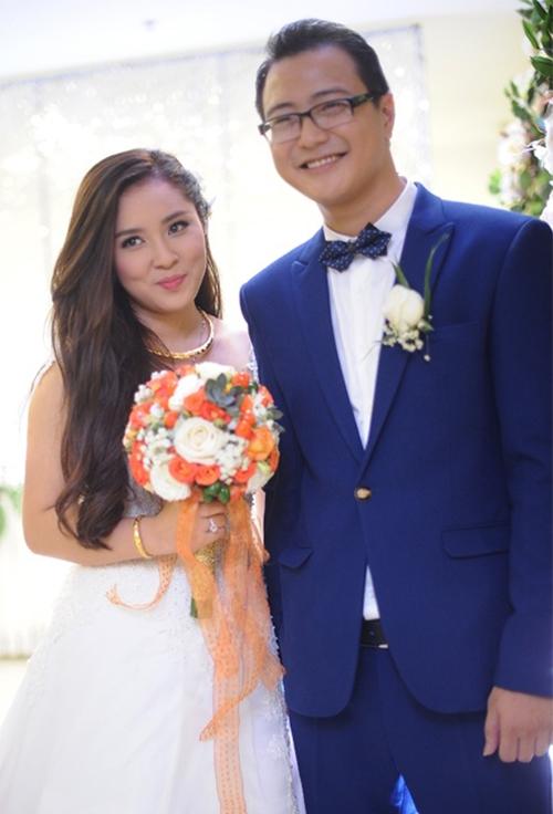 Bảo Trâm Idol và ông xã trong đám cưới diễn ra vào tháng 10/2015.