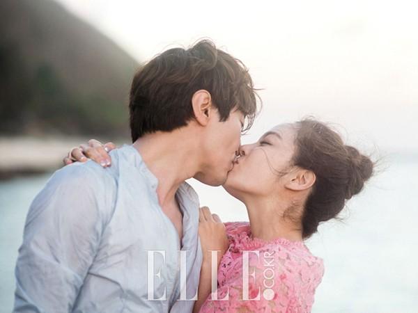 Chae Rim và chồng khi tình còn nồng.