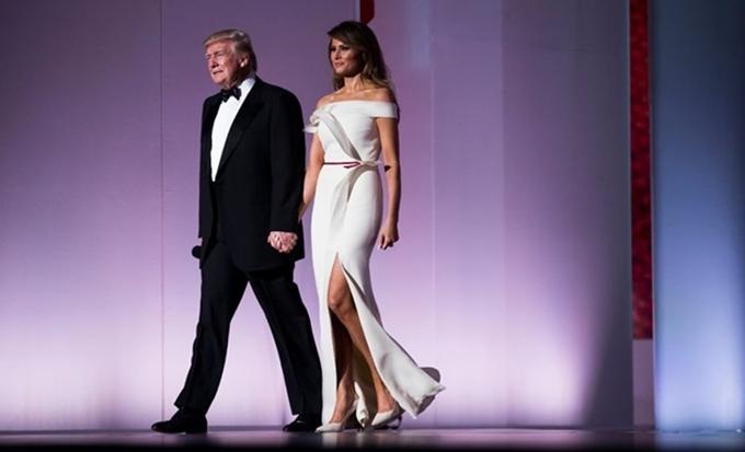 Tổng thống Trump và đệ nhất phu nhân Melania.
