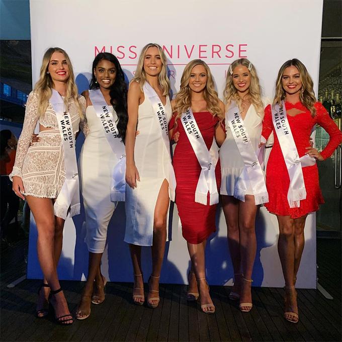 6 người đẹp vào chung kết hoa hậu bang  New South Wales, không có Claire Elizabeth Parker.
