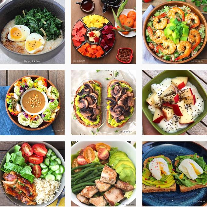 Các món ăn lành mạnh được Thiên Kim trình bày đẹp mắt và không ngại chia sẻ công thức trên Instagram.