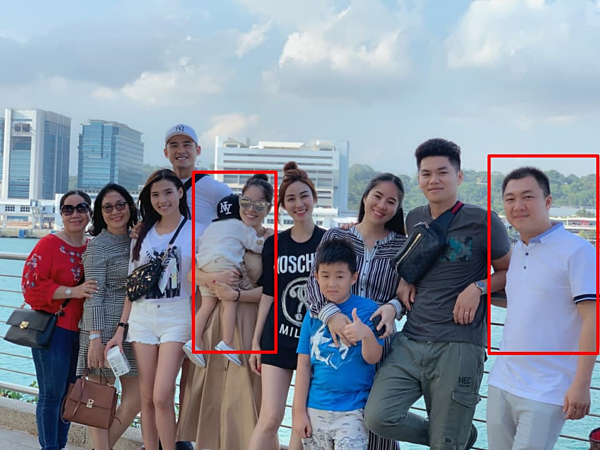 Dương Cẩm Lynh bế con trai đi du lịch cùngchồng cũ và nhóm bạn thân gồm vợ chồng Lê Phương, Thúy Diễm, Ngân Khánh.
