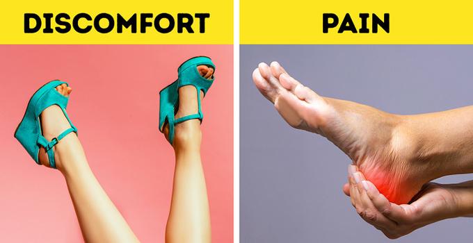 Giày platformĐây là loại giày có phần đế cao cả trước lẫn sau, cứng và không linh hoạt. Bàn chân chúng ta cần có khả năng uốn cong theo một cách nhất định, do đó giày cũng nên củng cố chuyển động của bàn chân. Giày platform ngược hoàn toàn với cơ chế đi bộ, bởi vậy chúng không được khuyến khích sử dụng thường xuyên.