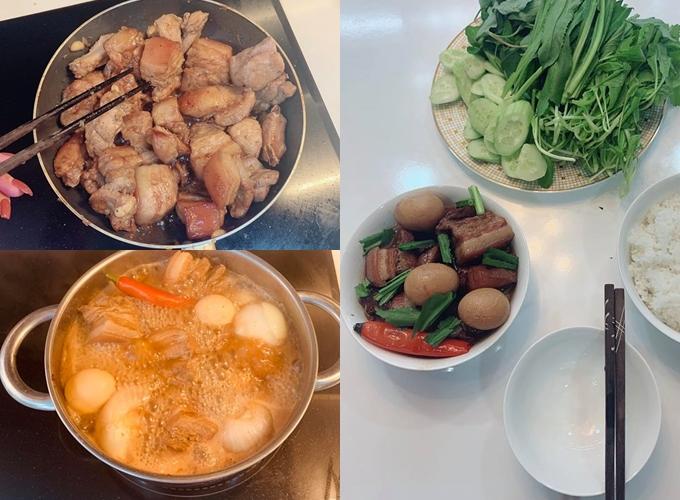 Món thịt kho hột vịt Phan Thị Mơ làm lần đầu nhưng được khen bắt mắt.