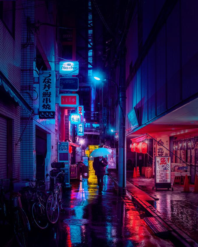 Tokyo ngày mưa như phim khoa học viễn tưởng