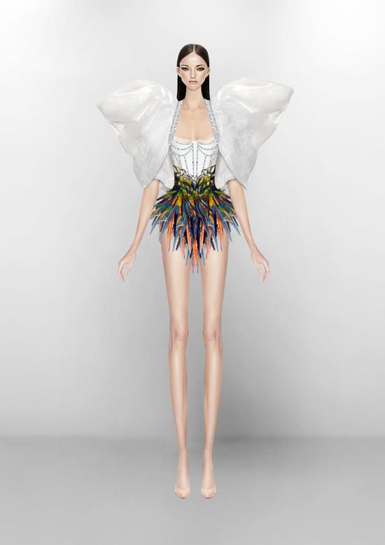 Các trang phục của Công Trí đều làm Rita Ora hài lòng. Theo nhà mốt Việt, khi nhận được trang phục cô không yêu cầu chỉnh sửa gì nhiều bởi từ bản vẽ đến mẫu thật đều hoàn hảo.