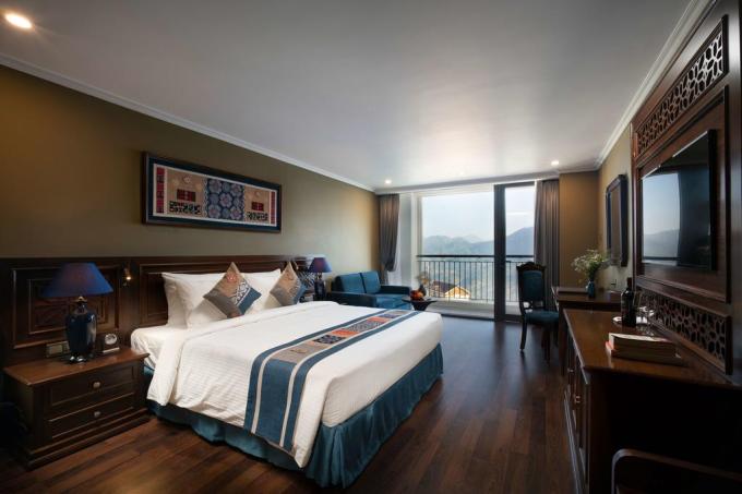 Phòng ngủ 4 sao tại Pistachio Hotel Sapa.