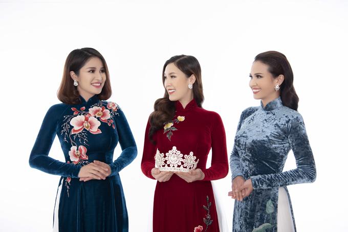 Khi hỏi về mối quan hệ của top 3 Hoa hậu Áo dài 2018, Phí Thuỳ Linh tiết lộ rằng, cô không giữ liên lạc thường xuyên với hai Á hậu bởi khoảng cách về địa lý và công việc của họ cũng khác nhau.