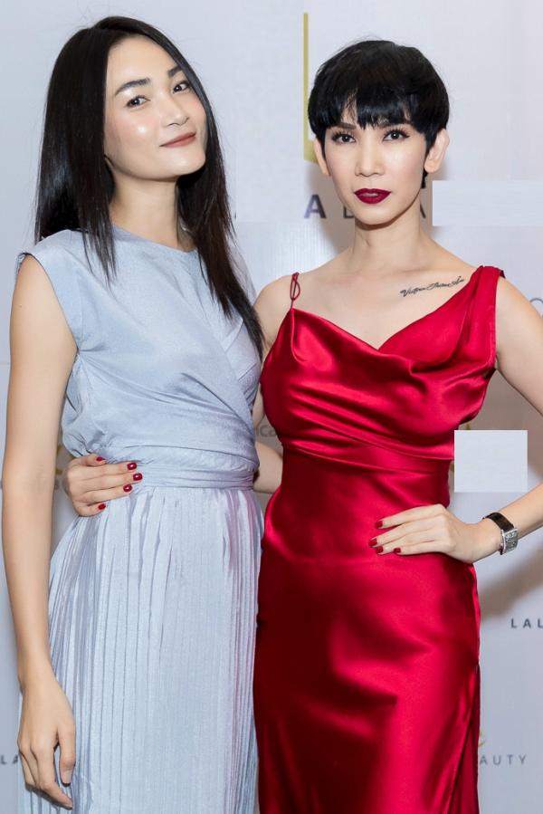 Người mẫu Thùy Trang ủng hộ cô giáo Xuân Lan thử sức lĩnh vực kinh doanh mỹ phẩm.
