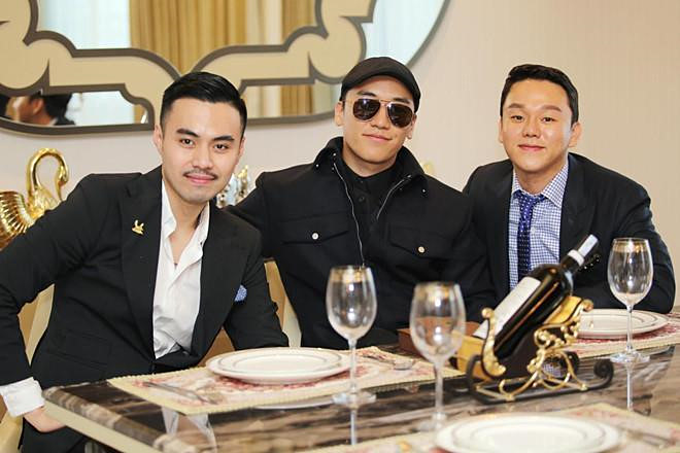 Từ trái qua: Denis Do, Seungri và Yoo In Suk (chồng của diễn viên Park Han Byul) - bộ ba cổ đông đứng sau BC Holdings,công ty Hong Kong có thểchỉ tồn tạitrên giấy.