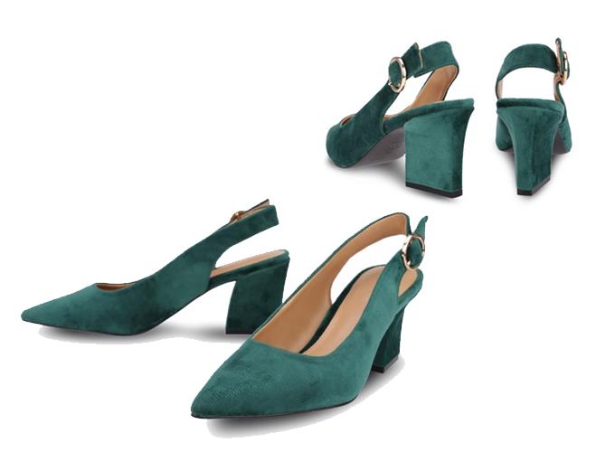 Giày cao gót mũi nhọn khoét mũi chữ V Girlie S33018 - Xanh lá - Xanh lá 477.000 Chất liệu da lộn thời trang, mềm mại Form giày mũi nhọn khoét chữ V, ôm trọn bàn chân, tạo sự thon gọn Quai hậu hở, thoải mái khi mang Đế vuông tạo dáng đứng vững chãi Mặt lót in tên thương hiệu GIRLIE  Hướng dẫn bảo quản: Tránh ẩm ướt, không giặt rửa bằng các chất tẩy mạnh