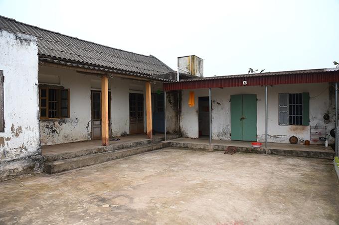 Căn nhà cấp bốn của Đoàn Thị Hương ở Nam Định. Ảnh: P.D.