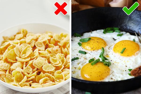 Trứng rất giàu chất chống oxy hóa, vitamin D và choline, làm tăng sự trao đổi chất. Chúng cũng rất giàu protein và theo nghiên cứu này, một bữa sáng giàu protein làm tăng cảm giác no của một người. Hơn nữa, một nghiên cứu năm 2014 tiết lộ rằng lượng protein giúp tăng sự trao đổi chất của chúng ta từ 13 đến 30%.