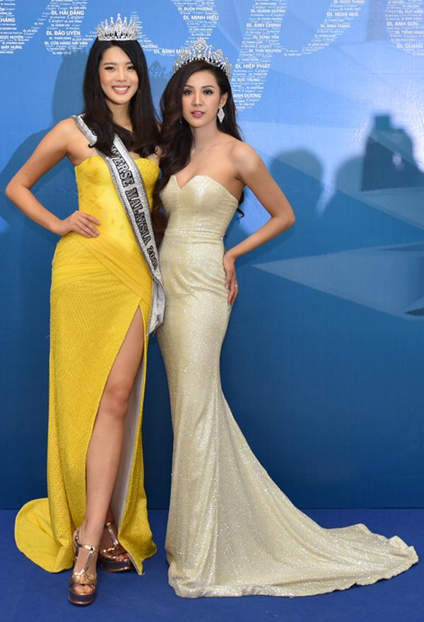 Hoa hậu Du lịch Thái Lan 2012Looknam Sasima và Hoa hậu hoàn vũ Malaysia 2018 Jane Teoh sang Việt Nam dự sự kiện.