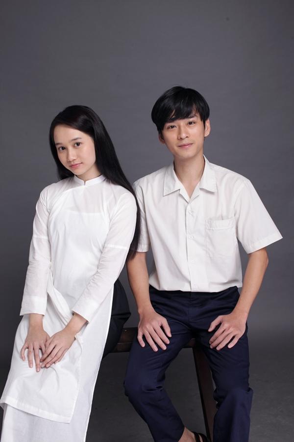Trần Nghĩa vai thầy giáo Ngạn và Trúc Anh vai Hà Lan trong phim Mắt biếc.