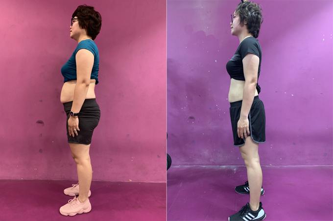 Giảm 13 kg thành công giúp bà mẹ hai con bớt tự ti vì vòng 2 ngấn mỡ và thấy cơ thể khỏe mạnh, dẻo dai hơn hẳn.